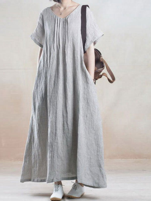 Polish Aplenty Linen A-Line Dress