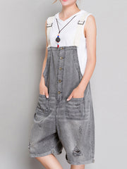 The Meaning Of Simplicity Ripped Romper Overall Dungarees