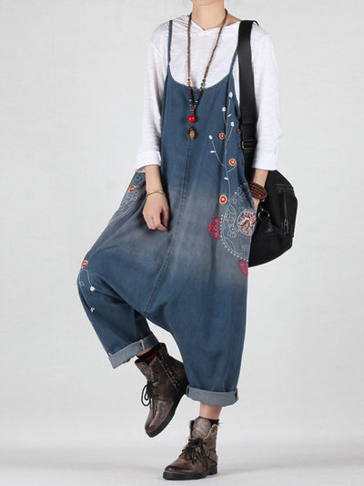 She's So Fancy Cotton Denim Overalls Dungarees