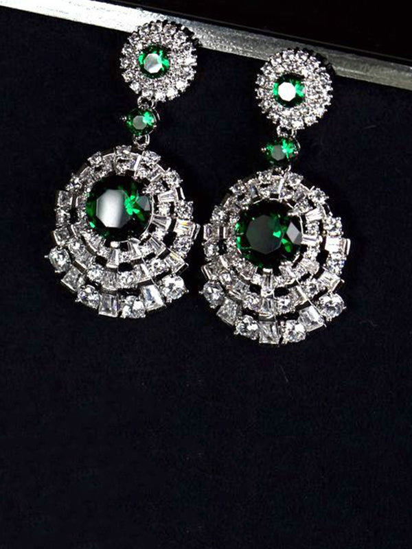 Isabel Vintage Tassel Emerald Earrings