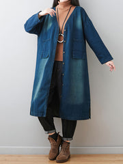 Wild Side Denim Shirt Dress