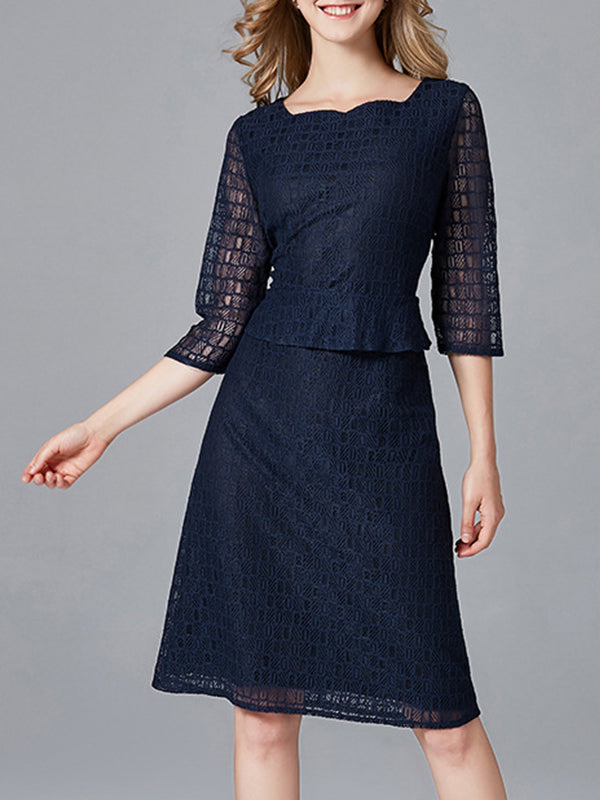 Truffle Ink Lace Dress