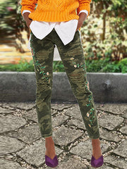 Floral Camouflage Pants