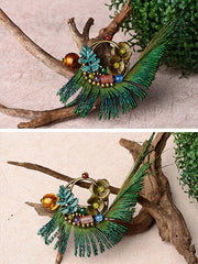 Peacock Bird Brooch