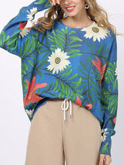 Summery Tropical Flower Print T-Shirt