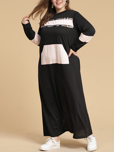 A Solid Plan Plus Size Maxi Dress