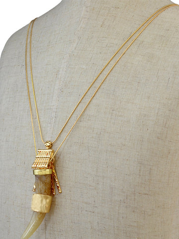 Elephant Tooth Necklace