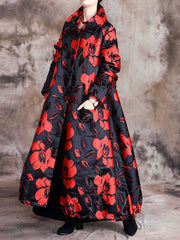 Visto a Camisa Floral Quilted Coat