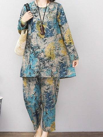 Mosaic Villa Pants Suit