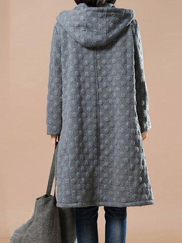 Bubble Textured Pankou Button Coat