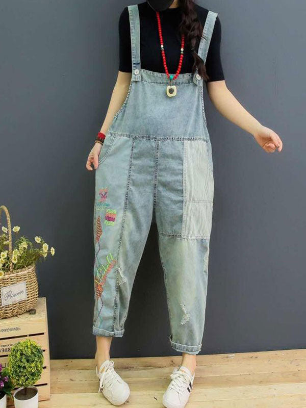 Hanging Garden Cotton Overalls Dungaree
