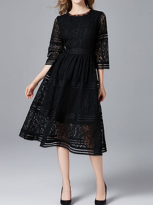 Musty Lace A-line Dress