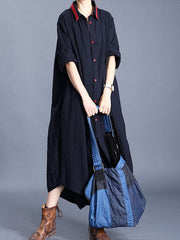 Abby Lane Cotton & Linen Shirt Dress