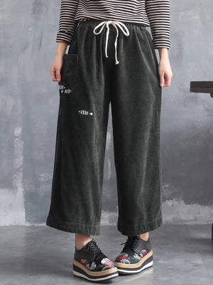 Corduroy Wide Leg Pants
