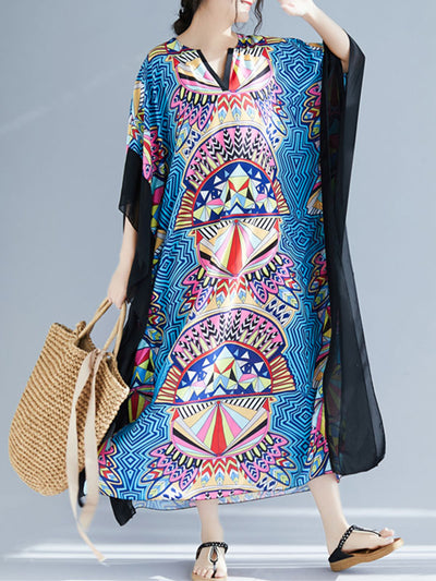 Lovely Structure Kaftan Dress