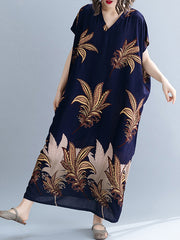 Dehlia Flower Plus Size Kaftan Dress