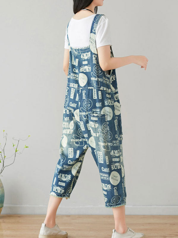 Highlighted Look Cotton Overalls