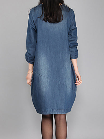 Denim Fame Midi Dress