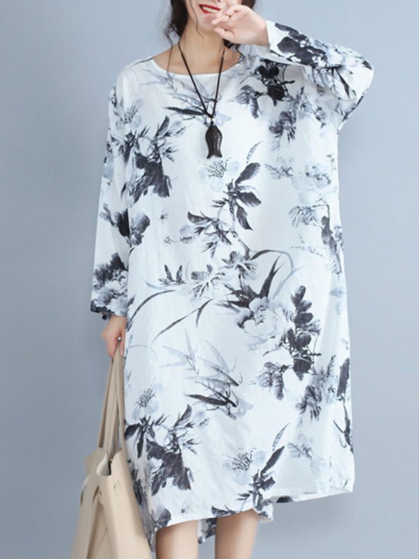 Inky Patches Midi Dress
