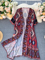 Lot of Love Tassel Short Sleeves Kimono Gown