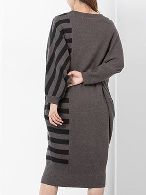 Upended Stripe Sweater Dress