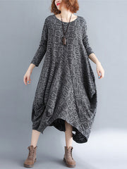Daydream Off Cotton A-Line Dress