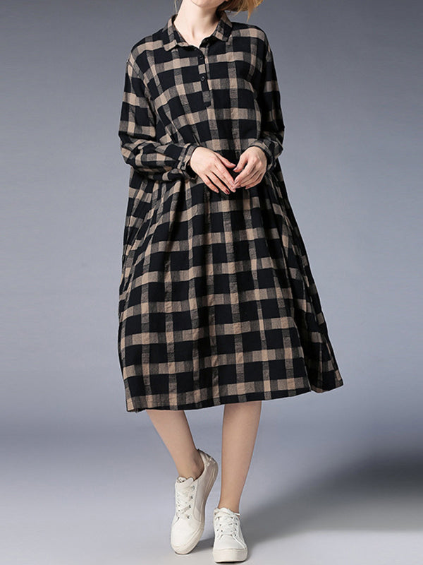 Beccie Pleated Shirt Dress