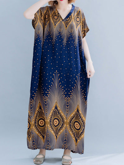 Rhombus Sprout Kaftan Dress