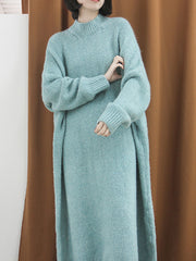 Side By Size Knitted Sweater Dress