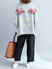 I'm All Yours Flowers Embroidered Basic Top