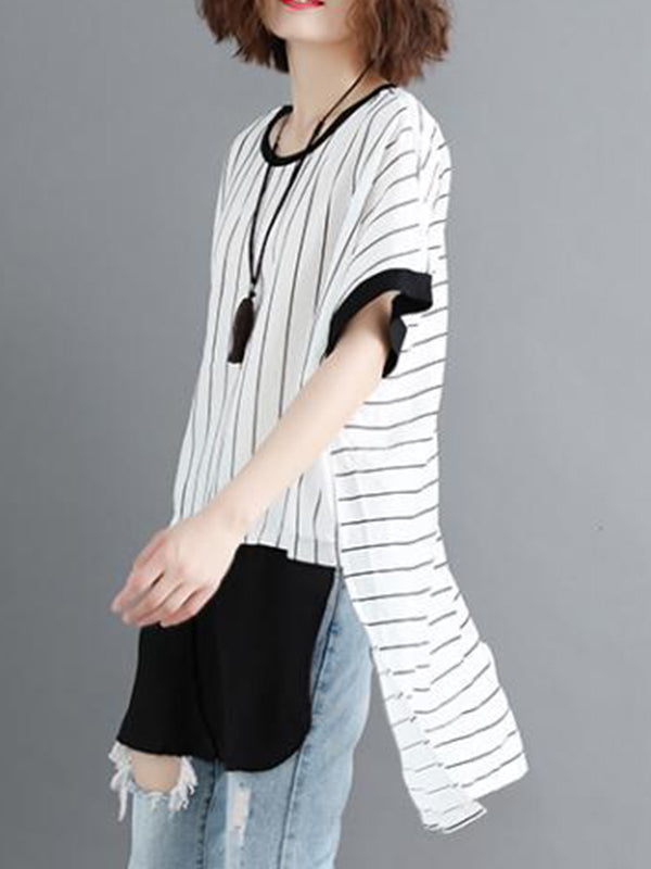 Stripe Spam Tunic Top