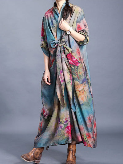 Poinsettia Tie Maxi Dress