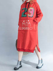 Into Cold Season Hooded Sweatshirt Dress