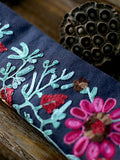 Ethnic Vintage Embroidery Linen Scarf