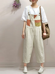 Some Like it Cool Cotton Cropped Overall Dungarees