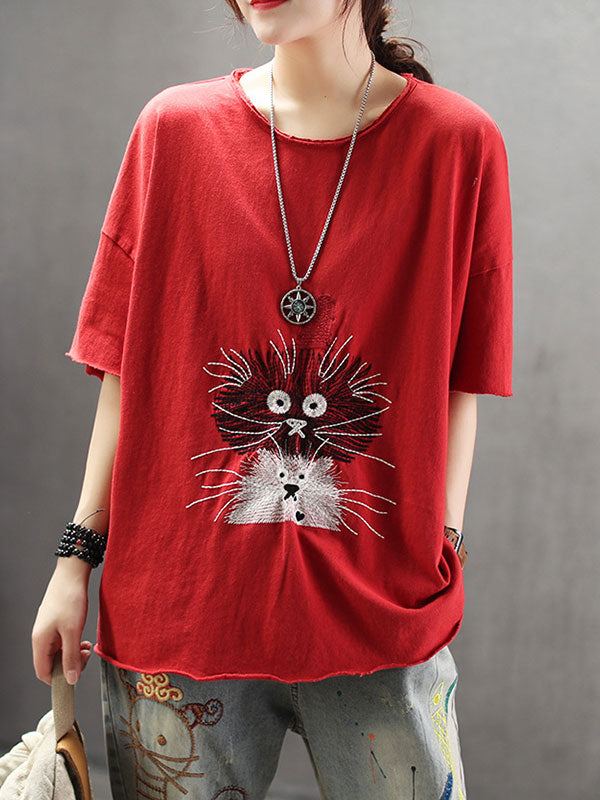 Scary Kitty Cotton T-Shirt