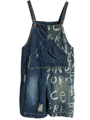 Undying Passion Ripped Denim Romper Overall Dungarees