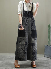 Life Is Art Cotton Wide-Leg Overalls Dungaree