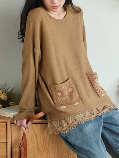 Long Sleeve Sweater with Pockets