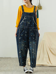 Candy Heart Multi Pockets Overall Dungarees