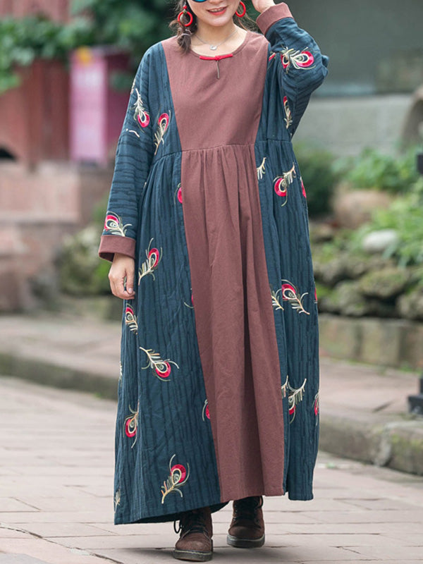 So Unreal Embroidery Cotton & Linen Dress