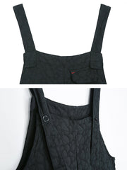 Kamryn Linen Cotton Ninth Overall Cropped Dungaree