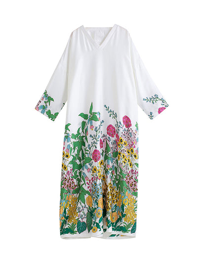 Desiree Sprouting Flowers Maxi Dress