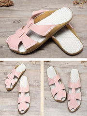 Canvas Leather Slippers