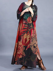 Hastings Floral Silk Maxi Dress