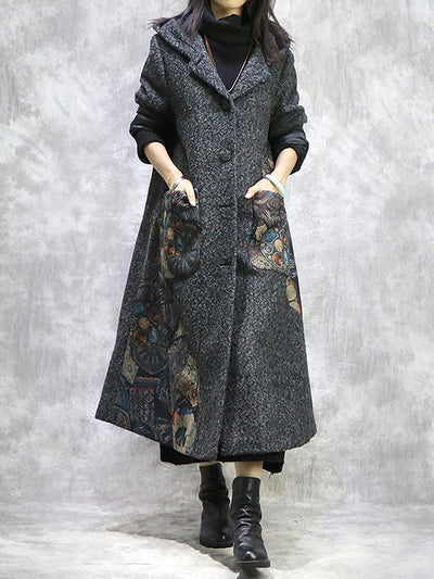 Cookie Pie Crepe Woolen Coat
