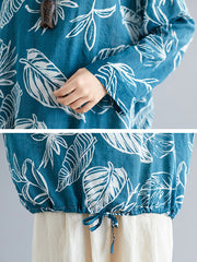 Mad About Feather Pring Linen Top