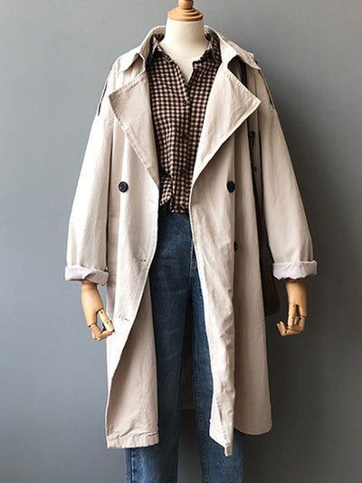 No Limits Crepe Trench Coat