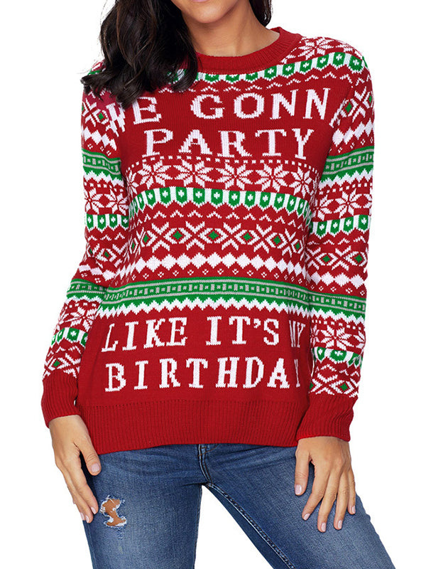 Birthday Round Neck Sweater