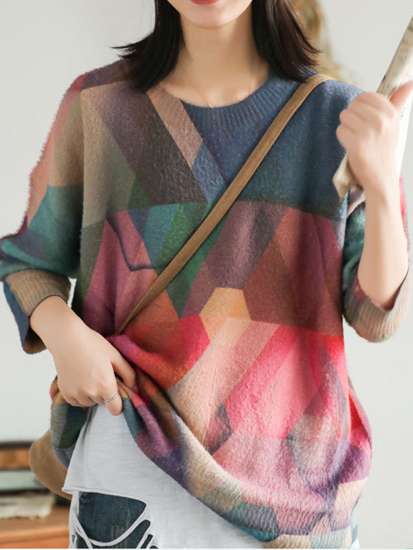 Fantasy Colour Printed Sweater
